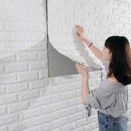 Instalación pared 3d adhesiva 1