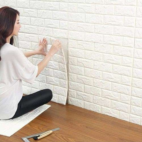 Instalación pared 3d adhesiva 2