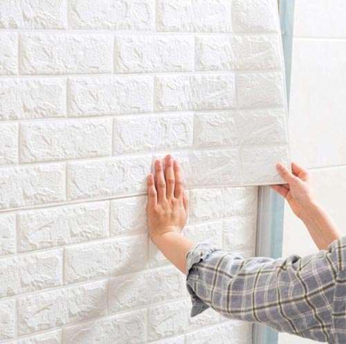 Instalación pared 3d adhesiva 3