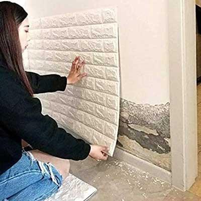 Instalación pared 3d adhesiva 4