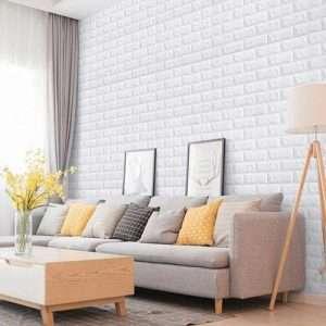 pared 3d pegatina autoadhesiva ladrillo blanco Sincelejo Cali
