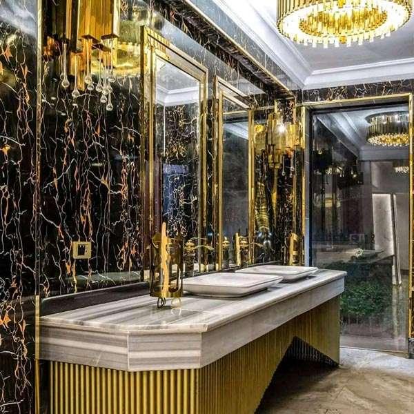 pared marmolizada en pvc baño